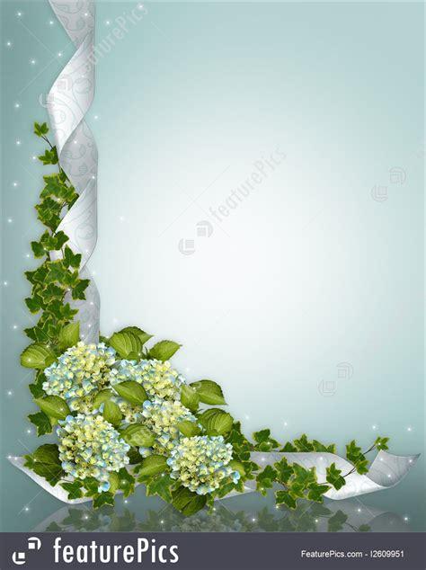 templates wedding invitation hydrangea floral border