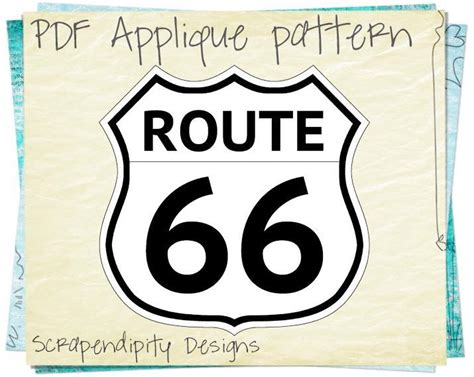 route 66 applique by scrapendipity quilting pattern