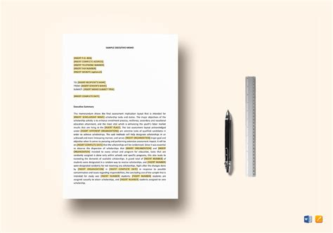 executive memo template executive memo template in word docs apple pages