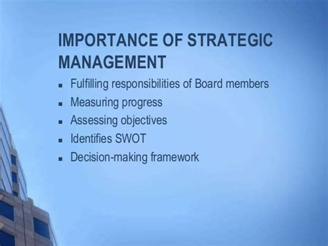 Mba In Strategic Management In Usa by Strategic Management
