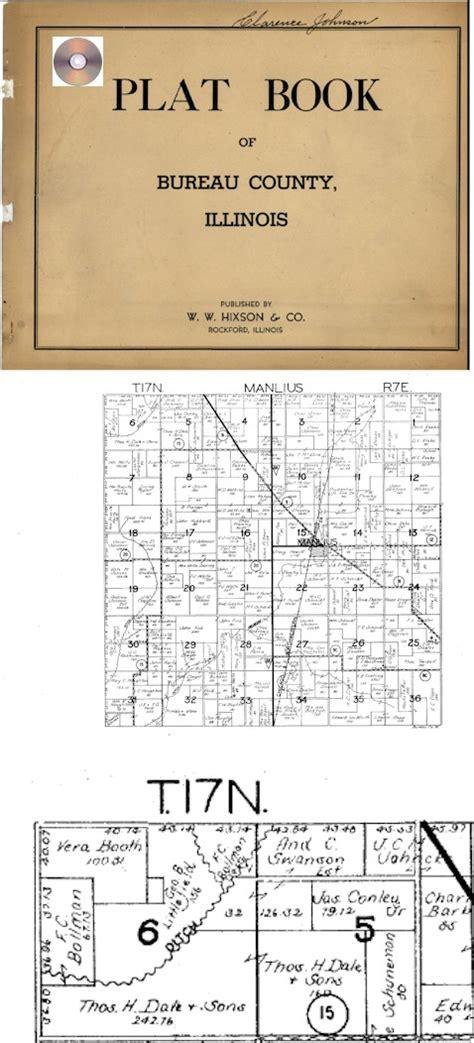 county illinois genealogy bureau county illinois il plat book history genealogy map