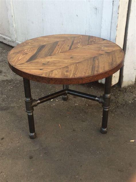 pipe leg coffee table herringbone coffee table w pipe tri leg base