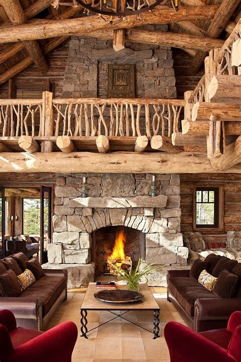 log cabin living room decor 55 airy and cozy rustic living room designs digsdigs