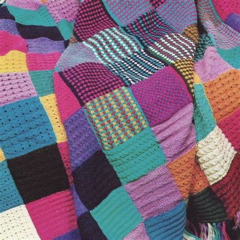 knitted afghans for sale sale pdf knitting pattern for squares patchwork throw