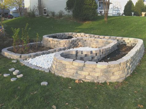Concrete Blocks For Garden Walls Unique Concrete Retaining Wall Ideas Cement Landscape