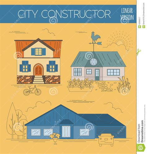 house map maker great city map creator colour version house constructor house stock vector image 63066017