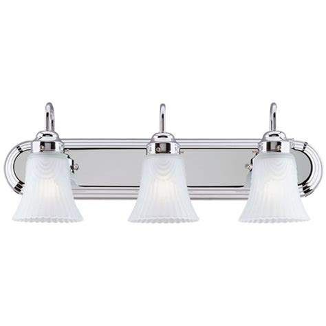 Home Depot Interior Light Fixtures Westinghouse 3 Light Interior Chrome Wall Fixture With Frosted Pleated Glass 6652200 The Home