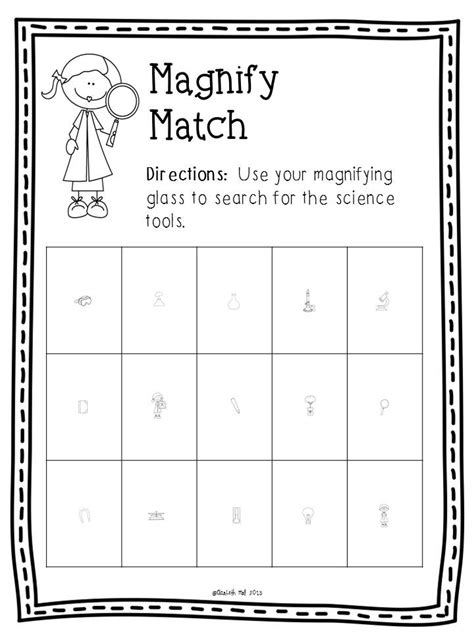 Science Tools Worksheet Kindergarten by Science Tools Freebie