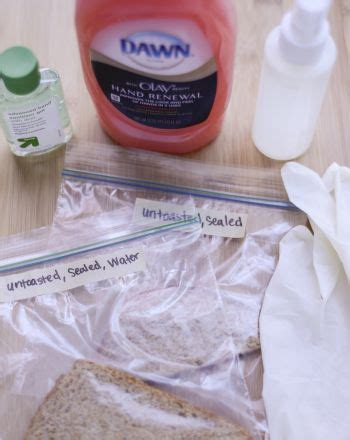 hand soaps  sanitizers prevent  growth  bread