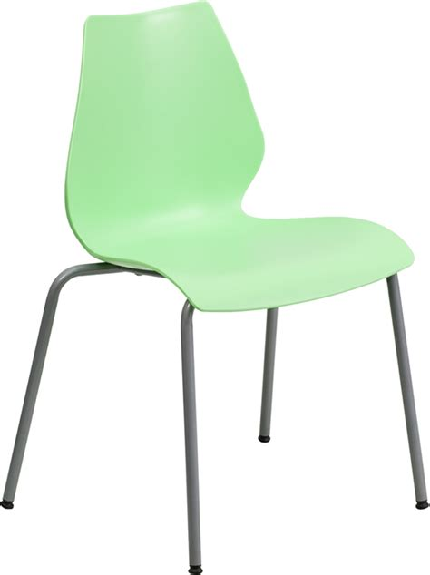 Plastic Stacking Chairs by Hercules Commercial Grade Green Plastic Stacking Chair W