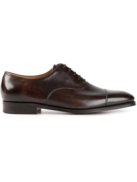 oxford shoes lyst lobb city 2 oxford shoes in brown for