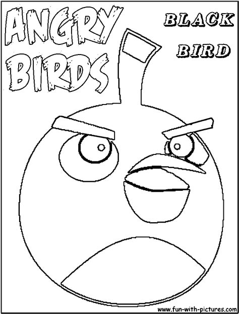 angry birds space coloring pages blackbird angrybirds blackbird coloring page