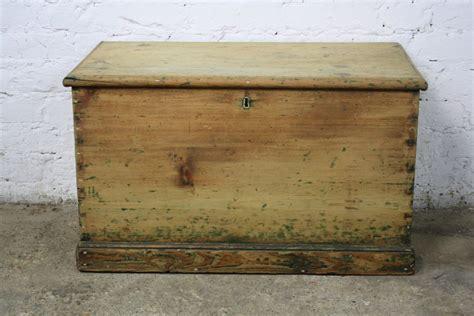 How To Buy Vintage Furniture vintage antique pine old wooden chest trunk blanket toy