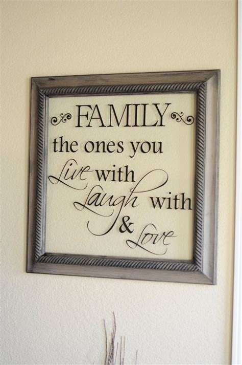 frames with vinyl family sayings family quote frame 22 1 2 inches x 22 1 2 inches no