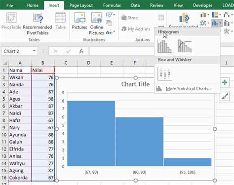 bagaimana membuat histogram di excel membuat diagram histogram di excel gallery how to guide