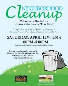 neighborhood cleanup day volunteers needed lower west
