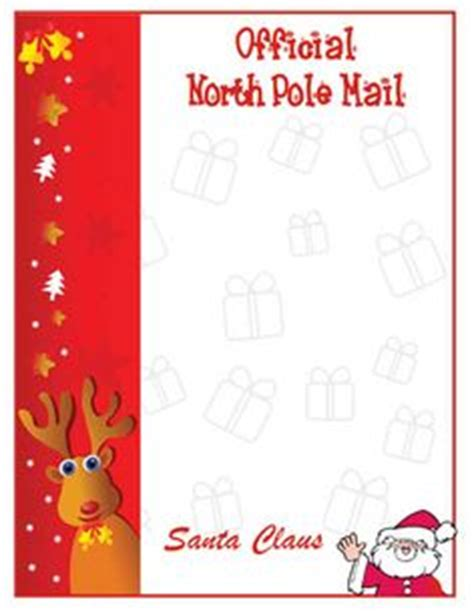 1000 Images About Printable Santa Letters On Pinterest Santa Letter Santa Letter Template Free Printable Letters From Santa Claus Templates