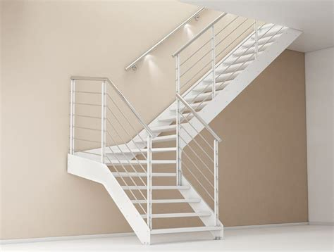 altezza corrimano scala in acciaio rettilinea con gradini in ferro bologna