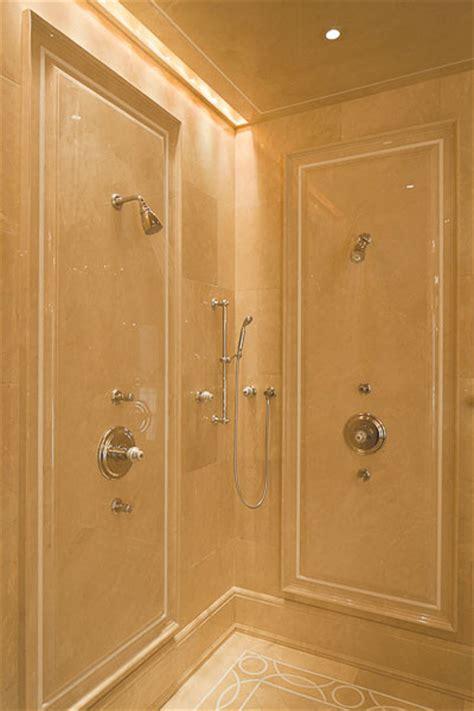 Crema marfil shower walls bathroom portland maine by morningstar