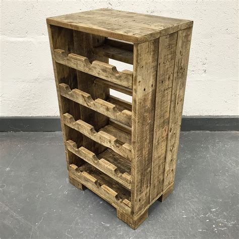 Wood Pallet Wine Rack by Reclaimed Wood Wine Rack Wood Wine Rack Rustic Wine By