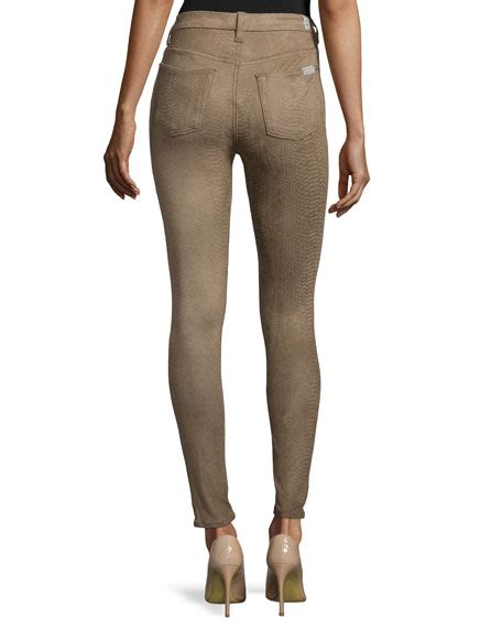 Hw Highwaist Mocca 7 for all mankind high waist snake print mocha snake