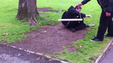 people falling off swings fat guy falls off swing youtube