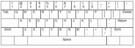 printable qwerty template qwerty keyboard print diagram pictures to pin on pinterest