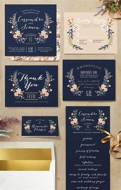 Wedding Invitations Navy by 797 Best Rustic Wedding Invitations Images On