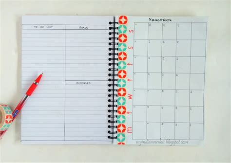 printable calendar journal my indian version bullet journal monthly layout ideas