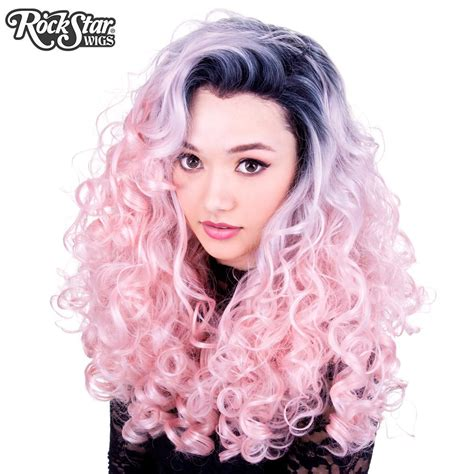 Pre Order Wig Linen Yellow Curly W58342 1 lace front curly roots powder pink 00564 rockstar wigs