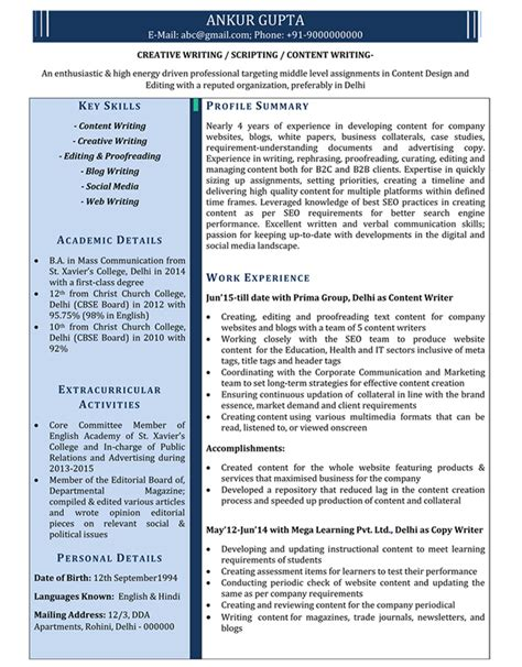 Content Writer Resume Template Krida Info Best Website Templates For Writers