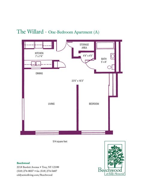 senior living floor plans floor plans for beechwood senior apartments 1 and 2