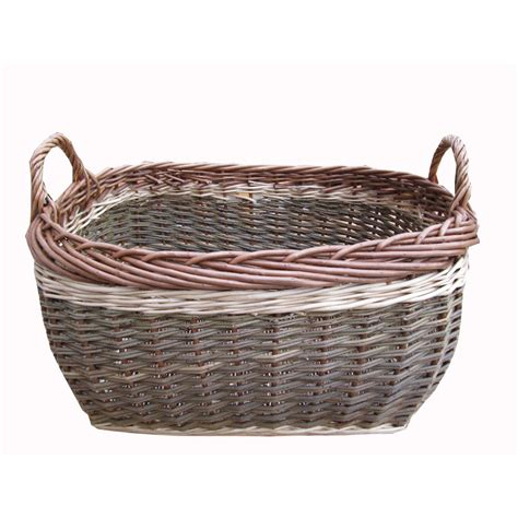 baskets for buy coniston wicker storage basket log basket from the