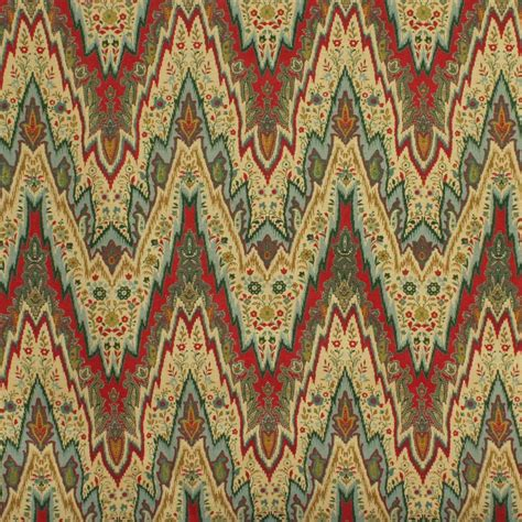 home decor designer fabric pkauffman flamestitch multi