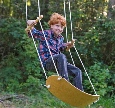 you swing swurfer skateboard shaped tree swing that lets you swing