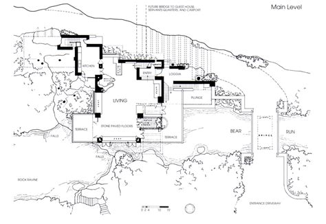 frank lloyd wright falling water floor plan fallingwatermainfloorplan design e architettura