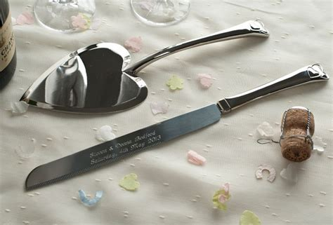 Wedding Cake Knives And Servers Personalised by Engraved Wedding Cake Knife And Server Engraved Gifts