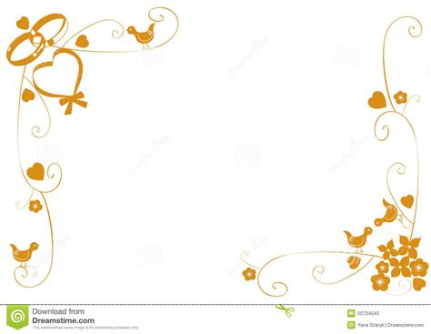 Wedding Border And Frames by Wedding Ring Border Clipart 62