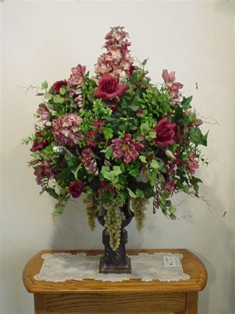 silk arrangements for home decor interior decoration cool artificial flower arrangements