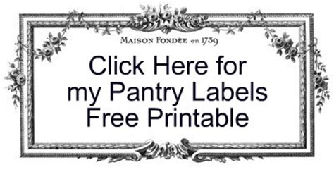 Pantry Labels Template by Strangers Pilgrims On Earth Pantry Labels Free Printable