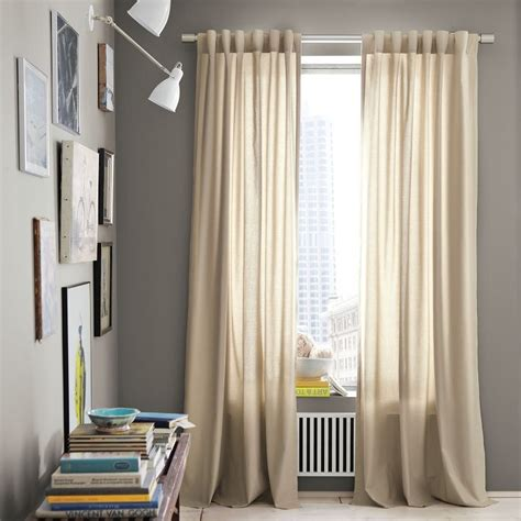 curtains for grey walls gray walls neutral flax curtains renee s house pinterest