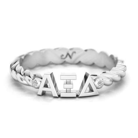 Alpha Xi Delta Letter Of Recommendation alpha xi delta silver pav 233 twist letter ring alpha xi