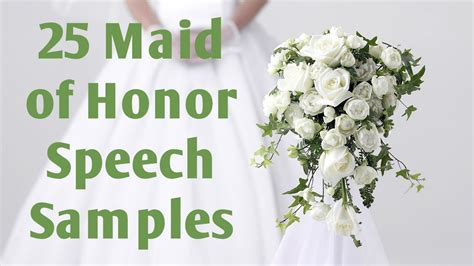maid of honor speech sles youtube