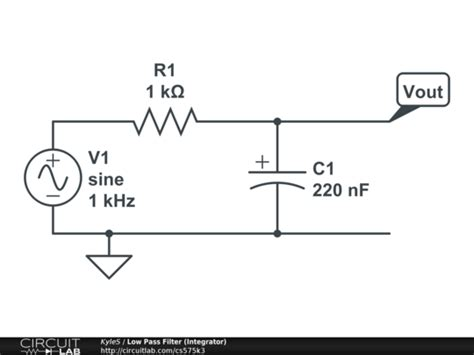 integrator circuit as low pass filter low pass filter integrator circuitlab