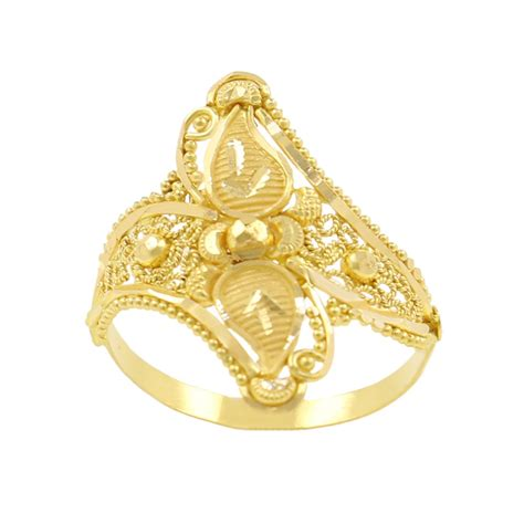 gold rings buy duo leaf gold ring of article ring