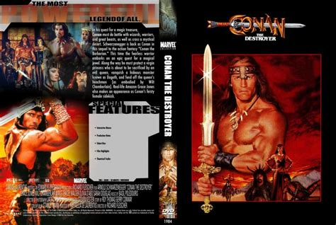 conan the destroyer dvd cover conan the destroyer marvel collection movie dvd custom