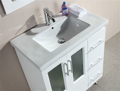 white bathroom vanity set stanton 32 inch contemporary white bathroom vanity set