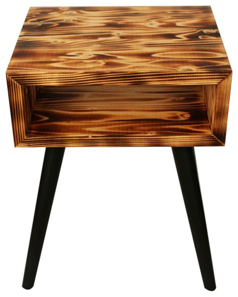 unique nightstands unique bedside table burning wood scandinavian