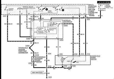 wiper motor wiring diagram for 1989 f150 get free image
