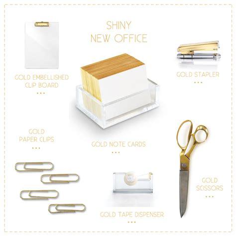 Office Supplies Gold Shiny New Office Kristi Murphy Diy Ideas